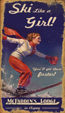 Ski Like a Girl Wood Sign
