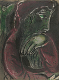 "Job disconsolate from ""Drawings for the Bible"" Premium Edition by Marc Chagall"