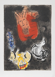 Moses receives the Ten Commandments, 1966 Premium Edition by Marc Chagall