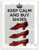 Keep Calm and Buy Shoes Wood Sign