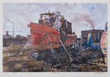 Old Boat Yard Collectable Print by Neville Clarke