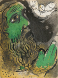 "Job at prayer from ""Drawings for the Bible"" Premium Edition by Marc Chagall"