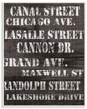 Canal Street Distressed Chicago Streets Wood Sign