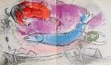 Le Poisson Bleu Premium Edition by Marc Chagall