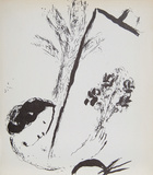 La Bouquet a la Main Collectable Print by Marc Chagall
