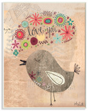 Love You Little Birdie Wood Sign