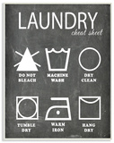 Laundry Cheat Sheet Icons Chalk Look Wood Sign