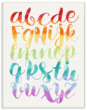 Rainbow Colors Alphabet ABC Wood Sign