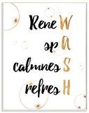 Gold WASH Acronym Bathroom Wood Sign