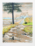 Untitled - Country Road Collectable Print by Clarence Holbrook Carter