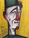 Clown (Yellow) Collectable Print by Bernard Buffet