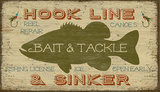 Bait & Tackle Wood Sign