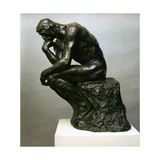 Le Penseur, Vers 1881 Metal Print by Auguste Rodin