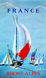 Rhone Alpes - France - Sailing Samlartryck av Georges Mathieu