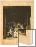 Les Menimes 1656 Wood Print by Diego Velasquez