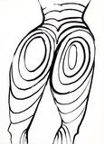 Back Cover (Nude Study) from Derriere Le Miroir Reproductions de collection par Alexander Calder