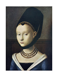 Petus Christus - Portrait de Jeune Feme 1472 - Reprodüksiyon
