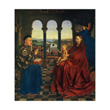 La Vierge Au Chancelier Rolin Vers 1390-1441 Plakater af Jean Van Eyck