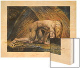 Nabuchodonosor, Entre 1795 et 1805 Wood Print by W. Blake
