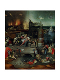 La Tentation de St-Antoine 1450-1516 Metal Print by Jerome Bosch