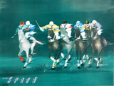 Polo Players - Spahn Collectable Print by Victor Spahn
