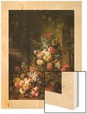 Le Tombeau de Julie 1803-1804 Wood Print by Jean-Francois Van Dael