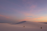 View of gypsum dunes at sunset, White Sands National Monument, New Mexico, USA Photographic Print by Mark Sisson