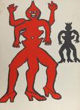 Derrier le Miroir (Two Acrobats) Reproductions de collection par Alexander Calder