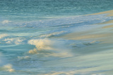 Waves on beach, Bird Island, Seychelles Photographic Print by Winfried Wisniewski