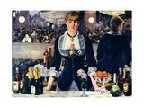 Edouard Manet - A Bar at the Folies-Berge?re - Poster