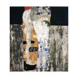 Les Trois Ages de la Vie Plakat af Gustav Klimt