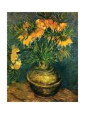 Fritillaires Dans un Vase de Cuivre, 1886 Lærredstryk på blindramme af Vincent van Gogh