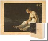 La Melancolie 1801 Wood Print by Constance Marie Charpentier