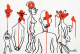 Circus 4 (Les Gueules Degoulinantes) from Derriere Le Miroir Reproductions de collection par Alexander Calder
