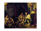 Euge?ne Delacroix - Femmes d'Alger Dans Leur Appartement, 1834 - Poster