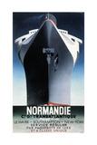 Normandie, 1935 Kunst på metall av Adolphe Mouron Cassandre