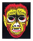 Werewolf Mask Serigraph by  Print Mafia