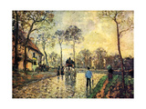 Camille Pissarro - Stagecoach to Louvenciennes - Poster