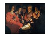 Georges de la Tour - L'Adoration des Bergers - Poster