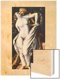 La Mort et la Jeune Feme 1517 Wood Print by Hans Baldung Grien