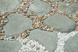 Gardens, landscaping, pebbles and rocks Photographic Print by Claver Carroll