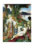 Gustave Moreau - Les Licornes 1885 - Poster