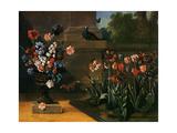 Jean-Baptiste Oudry - Vase de Fleurs et Parterre de Tulipes 1744 - Reprodüksiyon