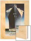 Normandie, 1935 Wood Print von Adolphe Mouron Cassandre