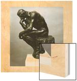 Le Penseur, Vers 1881 Wood Print by Auguste Rodin