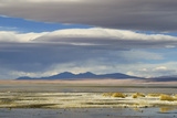 View of hotsprings and saltlake habitat, Atacama Desert, Bolivia Photographic Print by Ben Sadd