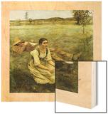 Lepage, Les Foins, 1885 Wood Print by Jules Bastien
