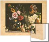 La Negresse Aux Pivoines 1870 Wood Print by Frederic Bazille