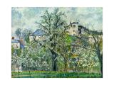 Camille Pissarro - Potager, Arbres en Fleurs, 1830-1903 - Reprodüksiyon