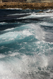 Waves crashing to shore, Coral Bay area, Cyprus Photographic Print by Wayne Hutchinson